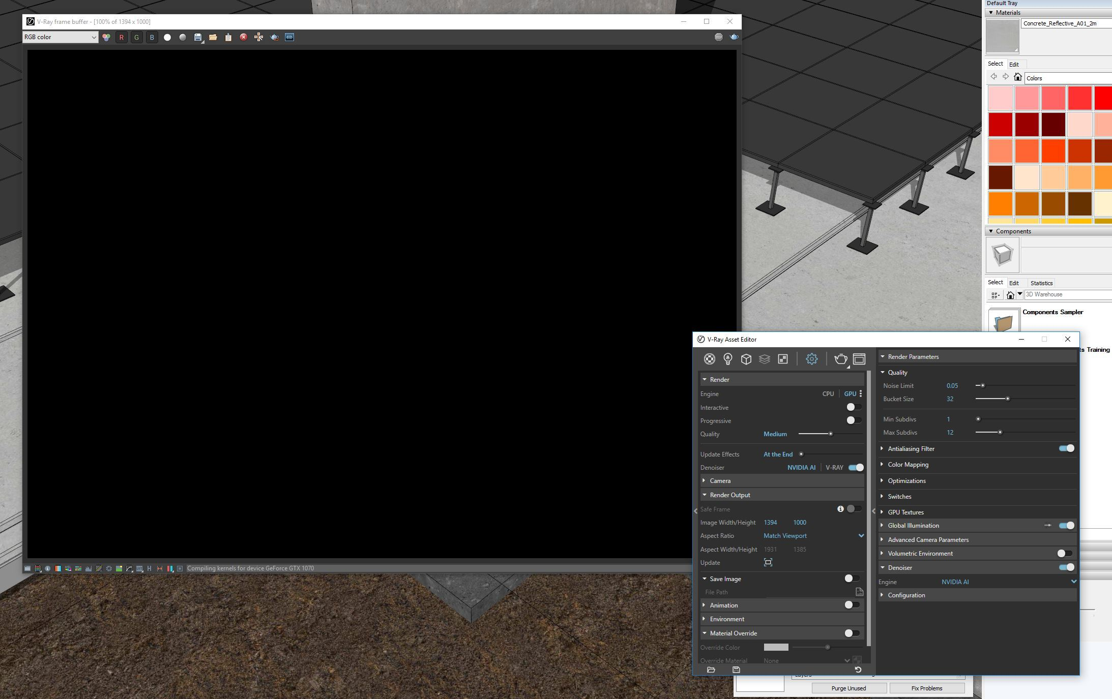 Rending Using Gpu Produces Black Screen V Ray For Sketchup 4 10 02 Chaos Forums