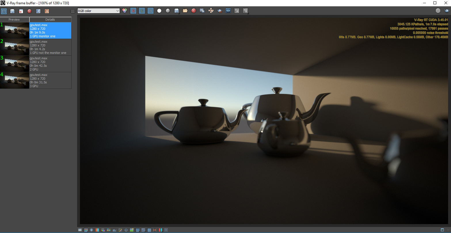 GPU scaling not as expected with Vray vs Redshift - Chaos Group Forums