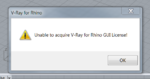 Unable to acquire vray for rhino GUI license! - Chaos Group Forums